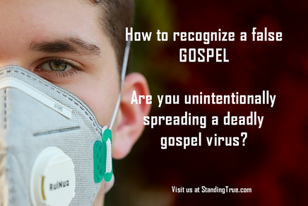 How to recognize a false gospel. Image: face with mask.